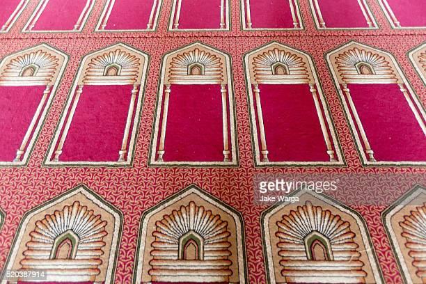 Prayer rugs inside Mosque, Cairo, Egypt