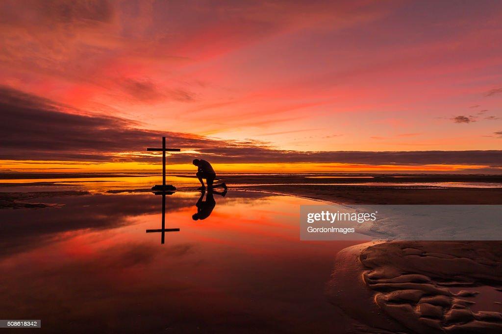 Prayerful Man : Stock Photo