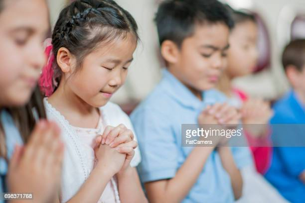 Praying at Sunday School