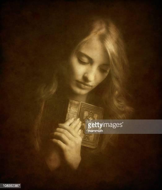 Praying catholic girl