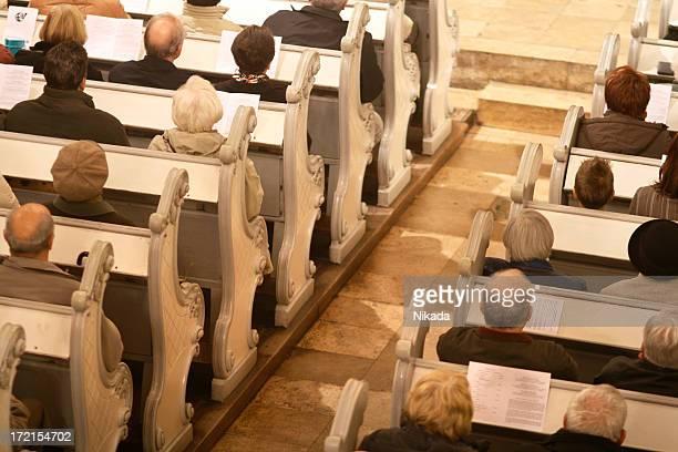 Praying in a church