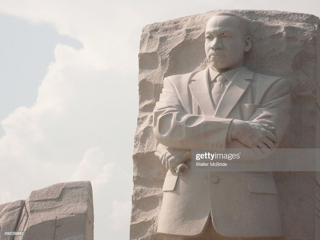 Pre Official Opening Images of the Martin Luther King Jr National Memorial on the National Mall in Washington DC The dedication will take place on...