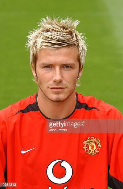A pre season portrait of David Beckham of Manchester United