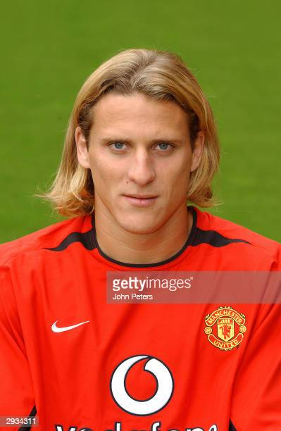 A pre season portrait of Diego Forlan of Manchester United
