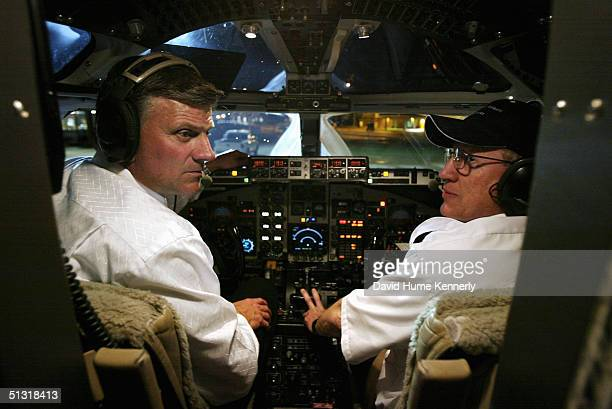 Preacher Franklin Graham and his copilot shut down their jet after arriving on June 12 2003 in Oklahoma City Oklahoma