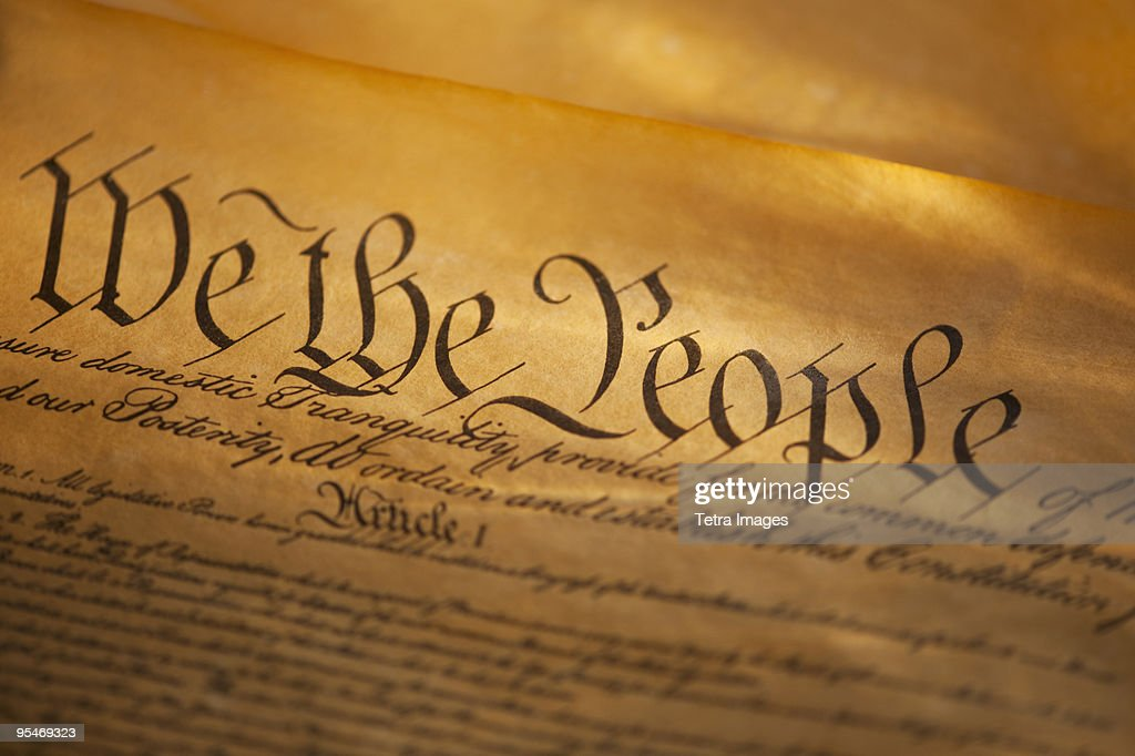 Preamble to American Constitution : Stock Photo