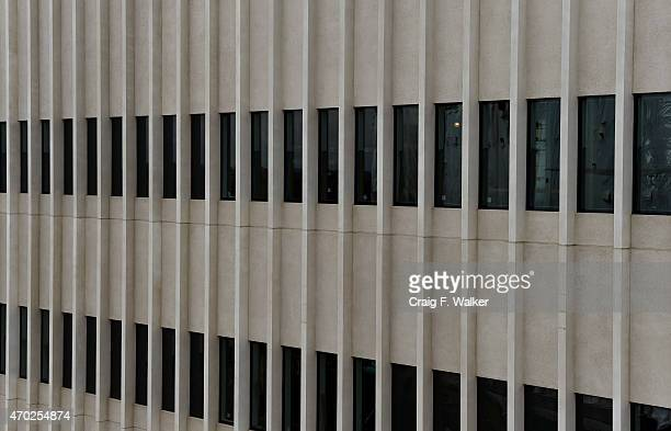 Precast concrete is viewed on the exterior of the Diagnostic and Treatment center at the Veterans Affairs hospital in Aurora CO April 18 2015 The...