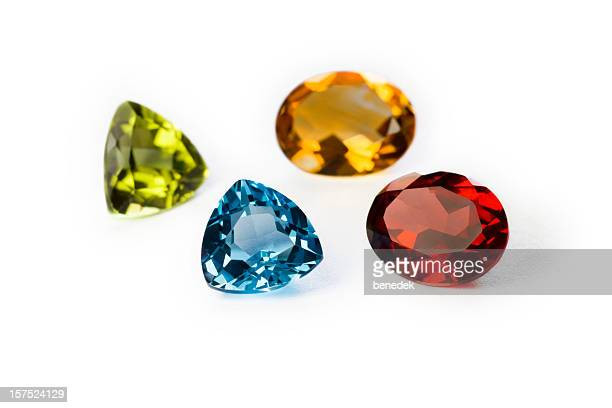 Precious Gemstones Garnet Imperial Topaz Ruby and Sapphire