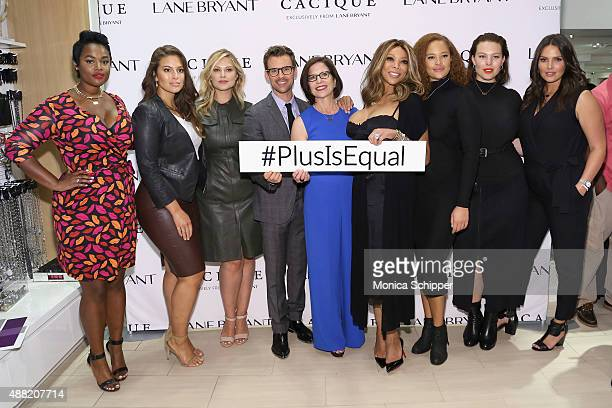 Precious Lee Ashley Graham Justine Legault Brad Goreski Linda Heasley Wendy Williams Sabina Karlsson Georgia Pratt and Candice Huffine attend the...