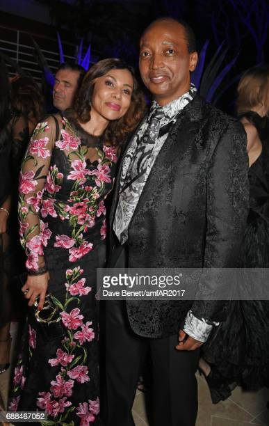 Precious Motsepe and Patrice Motsepe attend the amfAR Gala Cannes 2017 at Hotel du CapEdenRoc on May 25 2017 in Cap d'Antibes France