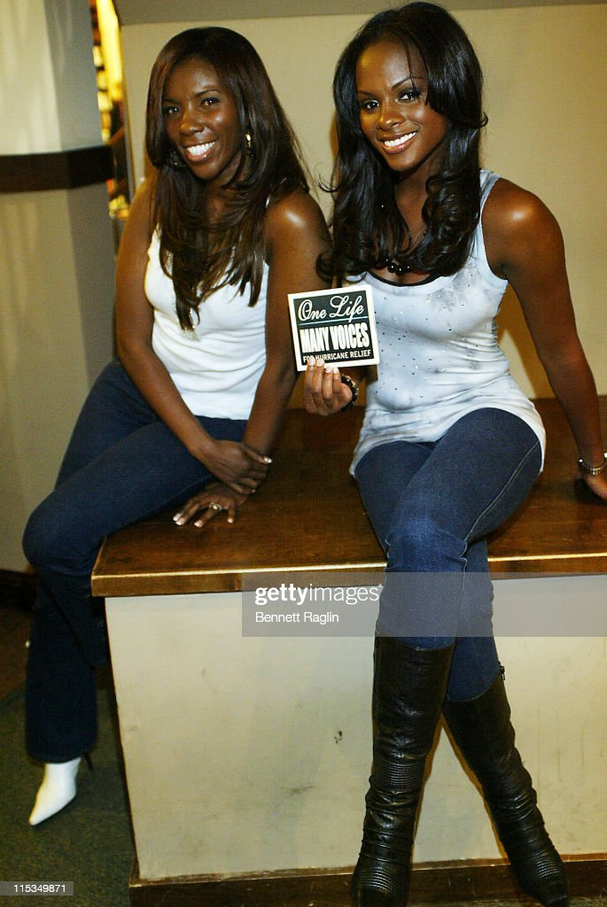 Precise and Tika Sumpter during The Cast of 'One Life to Live' Signs a CD for Hurricane Disaster Relief March 8 2006 at Barnes Noble Lincoln Triangle...