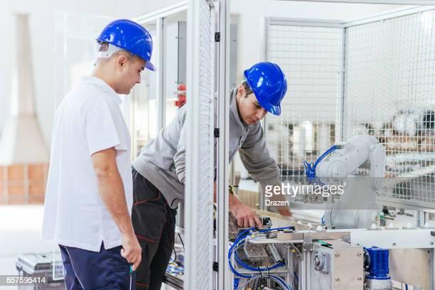Precise mechanics on robotic arm in industry
