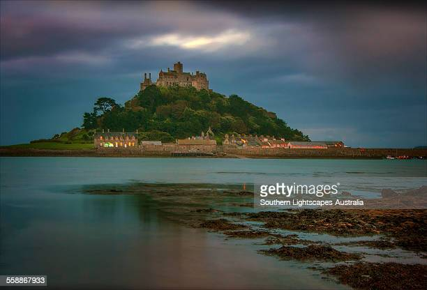 Pre-dawn light St Michael's Mount
