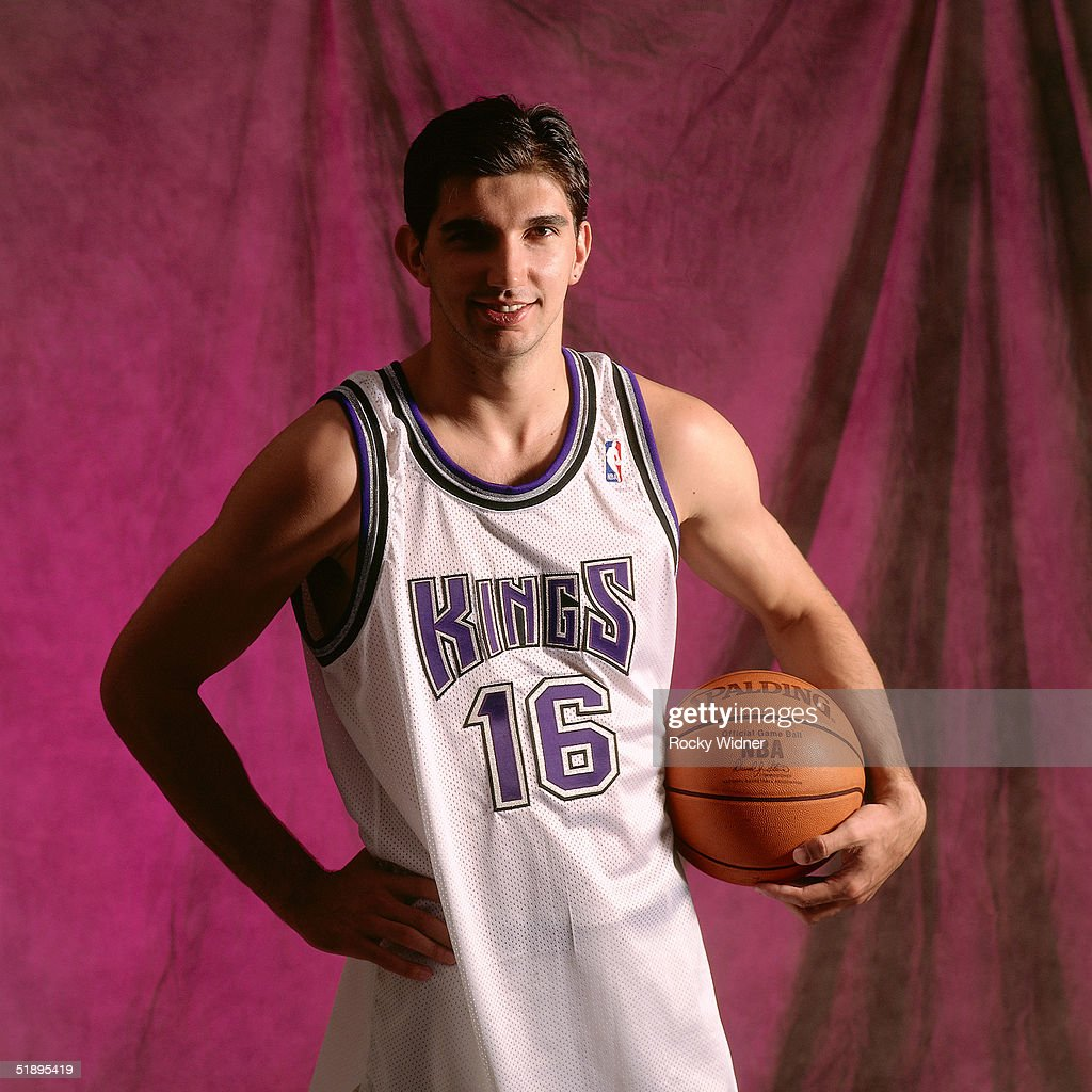 Predrag Stojakovic of the Sacramento Kings poses for a portrait in Sacramento California NOTE TO USER User expressly acknowledges and agrees that by...