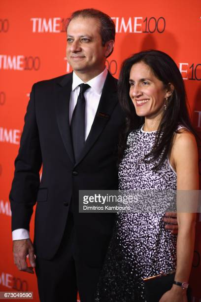 Preet Bharara and Dalya Bharara attend the 2017 Time 100 Gala at Jazz at Lincoln Center on April 25 2017 in New York City