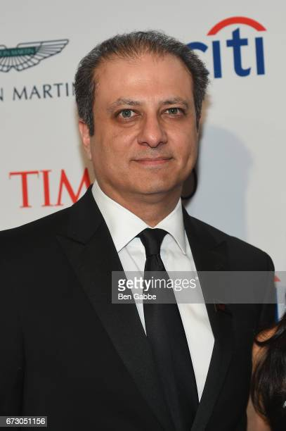 Preet Bharara attends the 2017 Time 100 Gala at Jazz at Lincoln Center on April 25 2017 in New York City