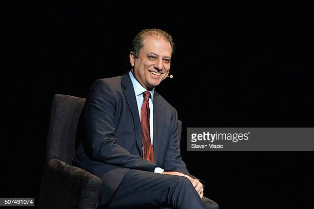 Preet Bharara United States Attorney Southern District of New York attends the 2016 'Tina Brown Live Media's American Justice Summit' at Gerald W...