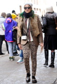 Preetma Singh is seen outside the Jeremy Scott show on February 12 2014 in New York City