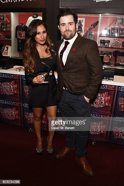 Preeya Kalidas and David Fynn attend the press night performance of 'School Of Rock The Musical' at The New London Theatre Drury Lane on November 14...