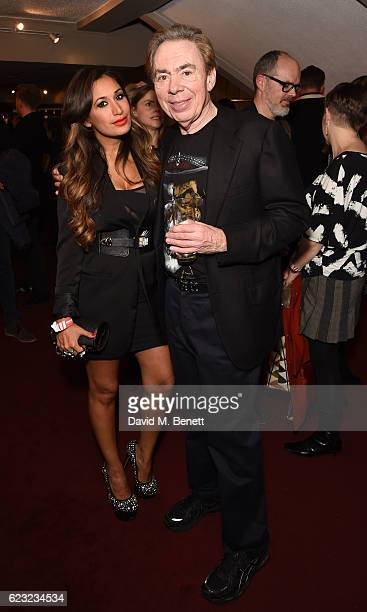 Preeya Kalidas and Sir Andrew Lloyd Webber attend the press night performance of 'School Of Rock The Musical' at The New London Theatre Drury Lane on...