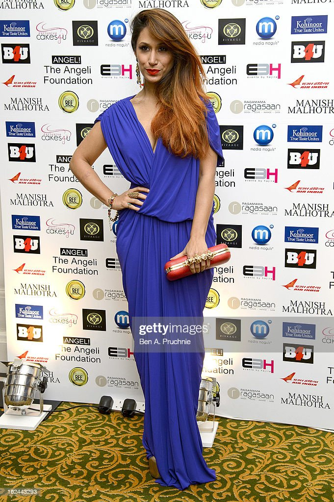 Preeya Kalidas attends a charity fundraising event hosted by Manish Malhotra in aid of 'Save the Girl Child' at The Grosvenor House Hotel on February 23, 2013 in London, England.