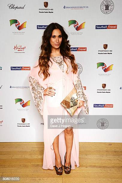 Preeya Kalidas attends a reception and dinner for supporters of The British Asian Trust at Natural History Museum on February 2 2016 in London England