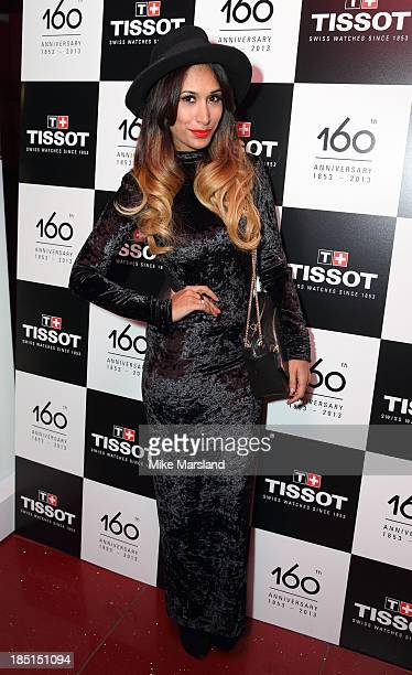 Preeya Kalidas attends as Tissot celebrate their 160th anniversary at supperclub on October 17 2013 in London England