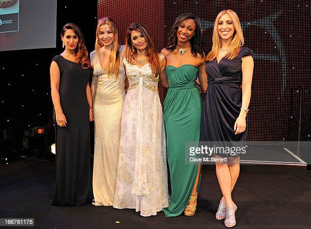 Preeya Kalidas Elen Rivas Tasmin LuciaKhan Beverley Knight and Kate Walsh attend The Asian Awards at The Grosvenor House Hotel on April 16 2013 in...