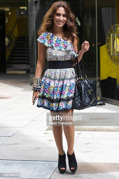 Preeya Kalidas is seen out on the south bank on July 26 2010 in London England