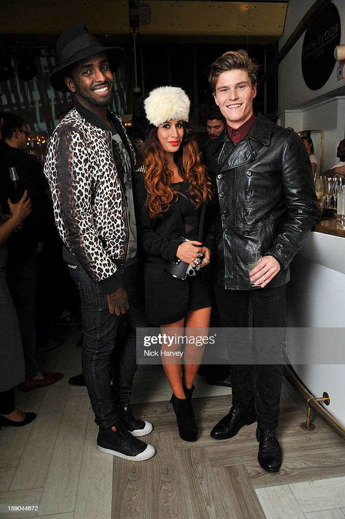 Preeya Kalidas, Mason Smillie and Oliver Cheshire attend the launch of 1205 Paula Gerbase Hosted By Harvey Nichols ahead of the London Collections: MEN AW13 at on January 6, 2013 in London, England.