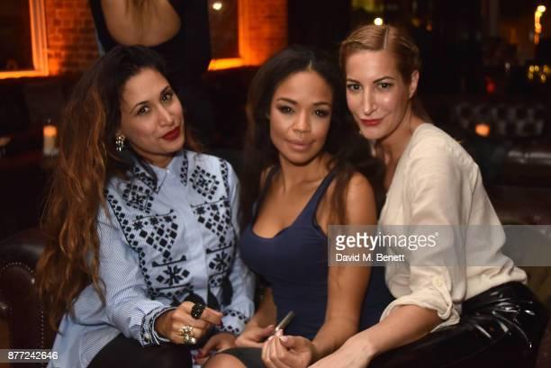 Preeya Kalidas SarahJane Crawford and Laura Pradelska attend Mason Smillie's birthday party at McQueen on November 21 2017 in London England