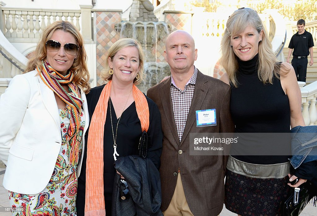Preferred Hotel Group Regional Director Jada Jackson, Preferred Hotel Group President Lindsey Ueberroth, Strategic Vision President & Founder Peter Bates and Gray & Co President Cari Gray attend The American Express Publishing Luxury Summit 2013 at St. Regis Monarch Beach Resort on April 20, 2013 in Dana Point, California.