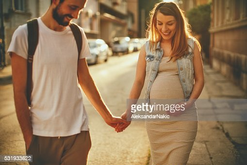 Pregnancy walk around the city