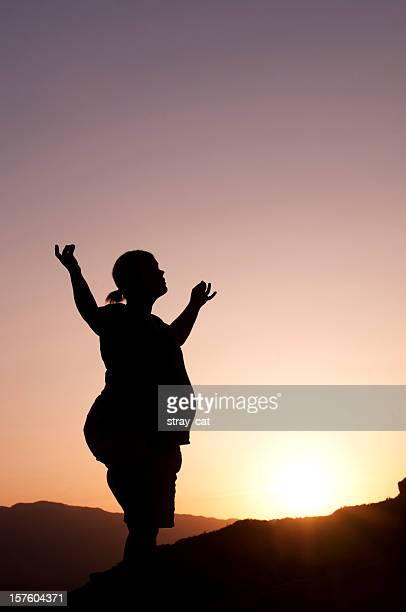 Pregnancy Yoga at Sunset