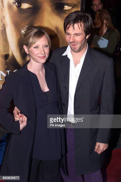 Pregnant actress Anne Heche with her husband Coley Laffoon arrives for the premiere of her new movie 'John Q' in Hollywood California