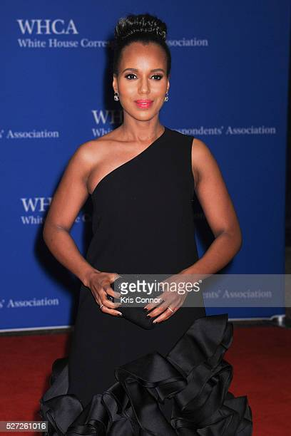 A pregnant actress Kerry Washington attends the 102nd White House Correspondents' Association Dinner on April 30 2016 in Washington DC