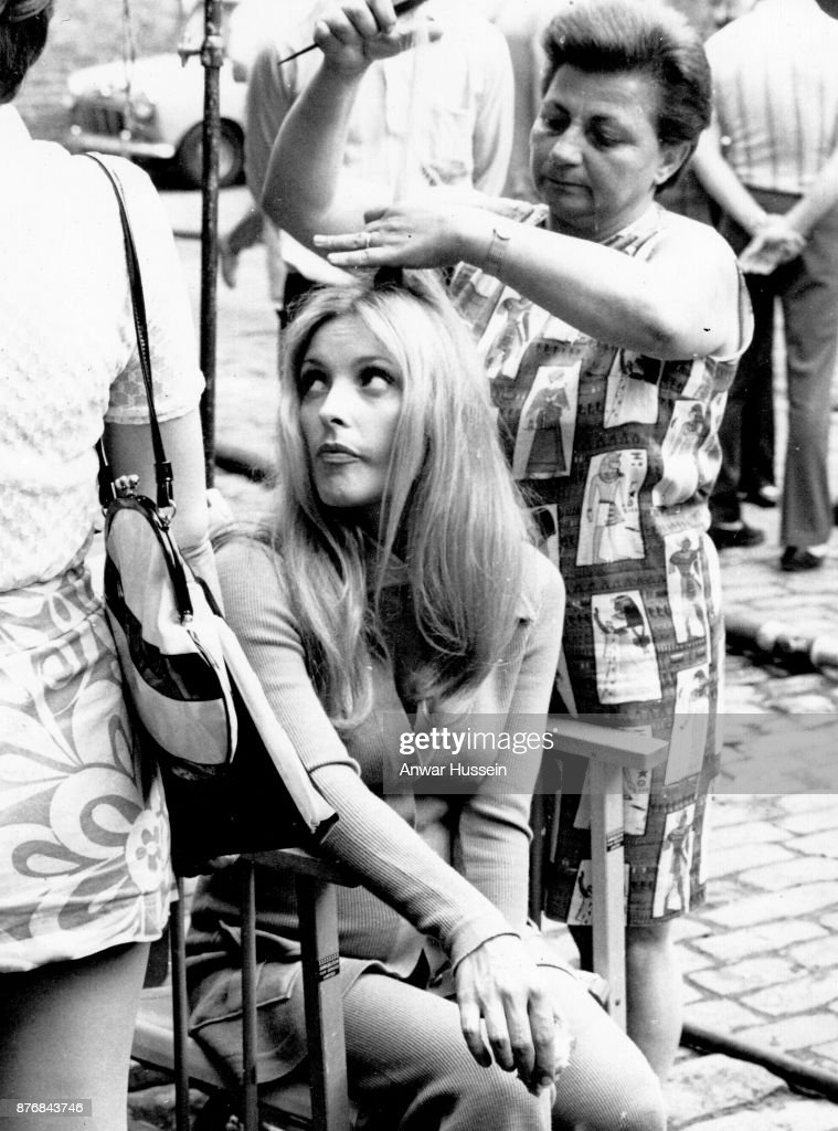 Pregnant actress Sharon Tate, wife of film director Roman Polanski, photographed on the set of her last film '12 + 1' in June 1969 in London, England . Shortly afterwards she returned to Los Angeles and was murdered by the cult leader Charles Manson on July 9, 1969. Manson died at the age of 83 on November 19, 2017.