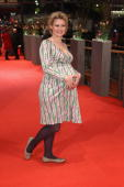 Pregnant Eve Maren Buechner attends 'The Ghost Writer' Premiere during day two of the 60th Berlin International Film Festival at the Berlinale Palast...