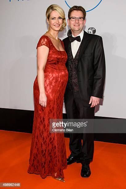 Pregnant German Family Minister Manuela Schwesig and her husband Stefan Schwesig attend the Bundespresseball 2015 at Hotel Adlon on November 27 2015...