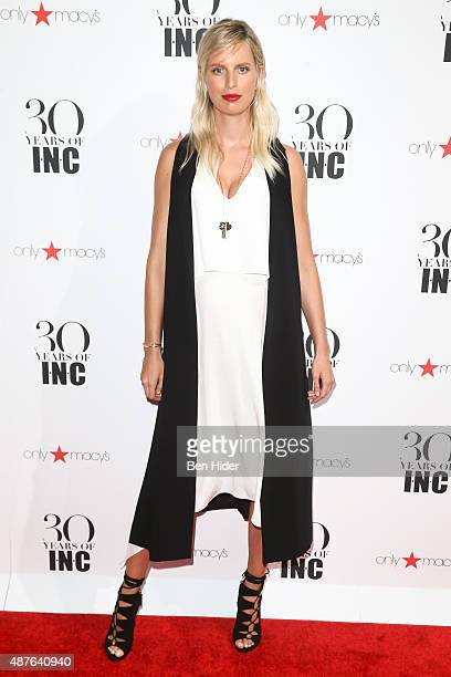 Pregnant model Karolina Kurkova attends the celebration for 30 Years of INC Collection at IAC Building on September 10 2015 in New York City