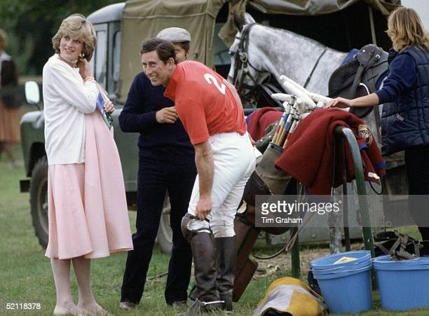 Pregnant Princess Diana With Prince Charles At Polo In Windsor Just Days Before The Birth Of Her First Baby She Had Worn Her Pink Maternity Dress To...