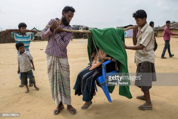 COX'S BAZAR BANGLADESH COX'S BAZAR CHITTAGONG BANGLADESH A pregnant refugee named Momena Khatun who fled from recent violence over Muslims in Myanmar...