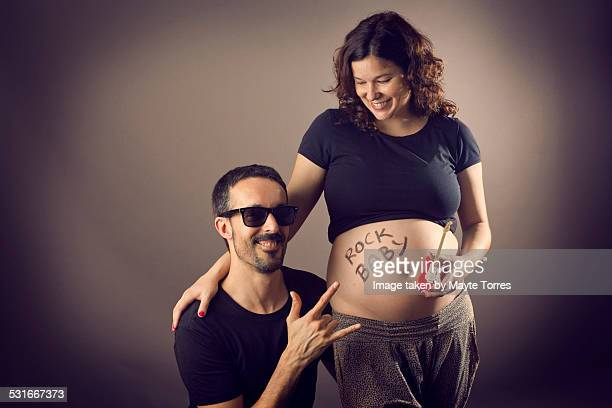 Pregnant rock couple