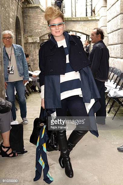 A pregnant Roisin Murphy attends the Fashion East show at London Fashion Week Spring/Summer 2010 at Somerset House on September 22 2009 in London...