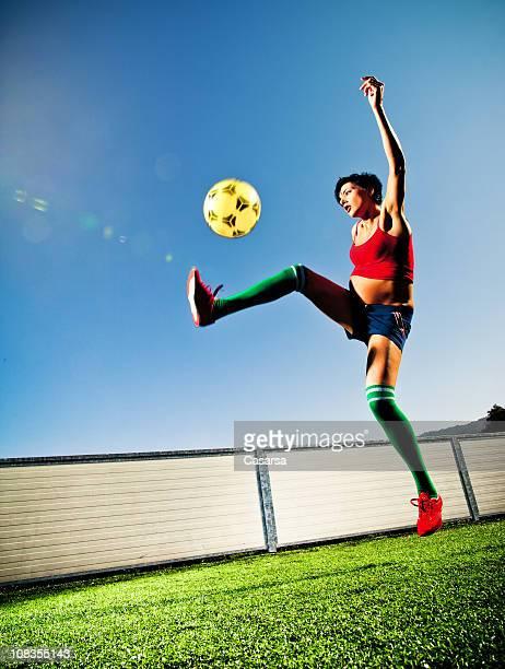 Femme enceinte Joueur de football