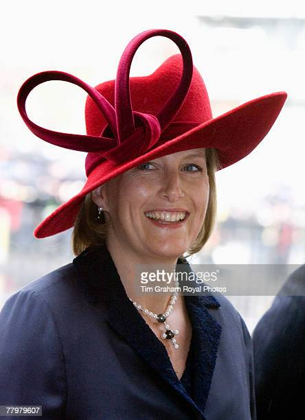 Pregnant Sophie Countess of Wessex attends a service of thanksgiving at Westminster Abbey to celebrate the Queen and Prince Philip's Diamond Wedding...