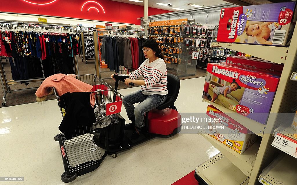 A pregnant woman from China shops for baby products at a department store in a suburb east of downtown Los Angeles in the San Gabriel Valley on January 31, 2013 in California, where so-called 'maternity hotels', a term used for the premises where pregnant women from China are coming to the United States to stay before and after childbirth, are attracting the attention of neighbors in a number of communities in this part of Los Angeles County. AFP PHOTO / Frederic J. BROWN