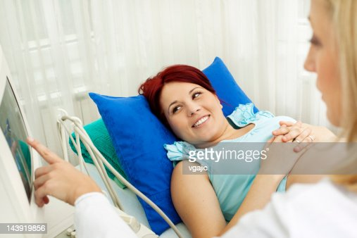 Pregnant Woman Having An Ultrasound : Stock Photo