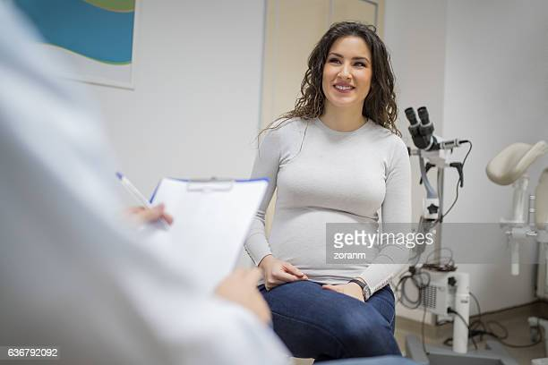 Pregnant woman in a consultation