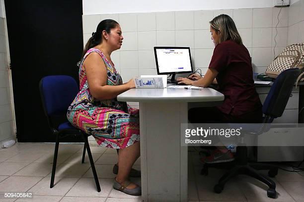 A pregnant woman left meets with her doctor at the Hospital Jorge Cristo Sahium in Villa Del Rosario Colombia on Monday Feb 8 2016 Alejandro Gaviria...